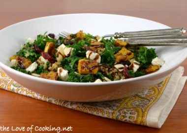 Roasted Butternut Squash, Kale, and Quinoa Salad with Balsamic Glaze