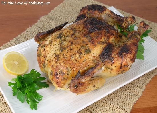Mustard, Lemon, and Herb Slow Roasted Chicken