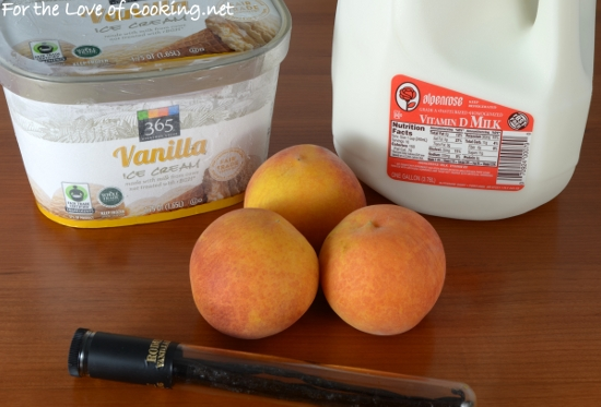Peach Milkshake with Vanilla Bean