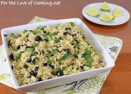 Rice and Black Beans with Cilantro and Lime
