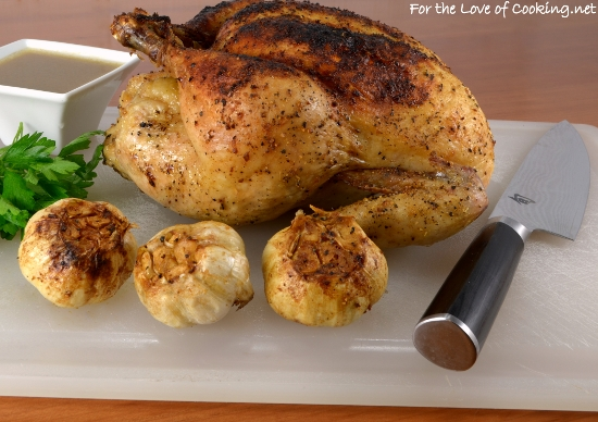 Slow Roasted Garlic Chicken
