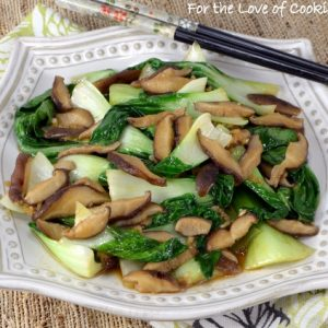 Bok Choy Sauté with Shiitake Mushrooms