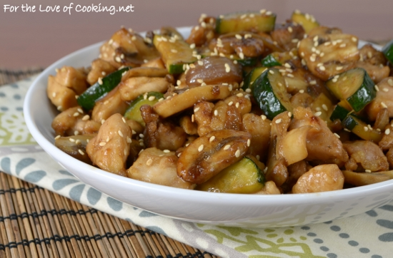 Chicken, Mushroom, and Zucchini Stir Fry