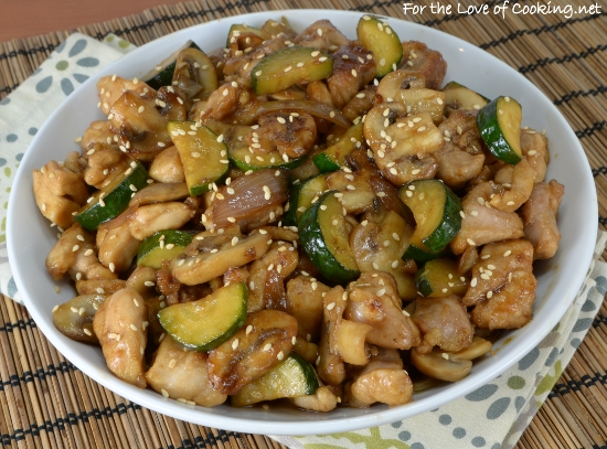 Chicken, Mushroom, and Zucchini Stir Fry | For the Love of Cooking