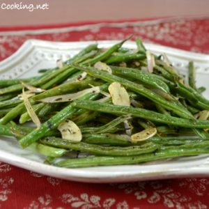 Roasted Green Beans with Herbs, Shallots, and Garlic