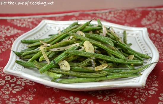 Roasted Green Beans with Herbs, Shallots, and Garlic | For the Love of ...