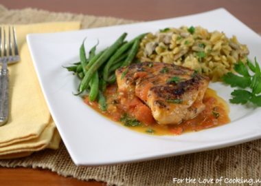 Basil Garlic Chicken Breasts with a Tomato Basil Sauce