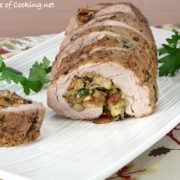 Mushroom, Bacon, and Herb Stuffed Pork Tenderloin