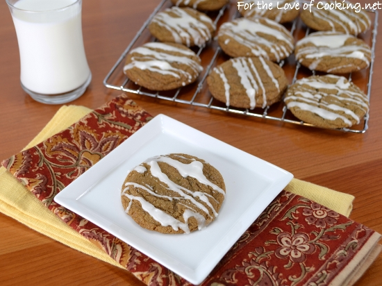 Gingersnaps with Apple Glaze