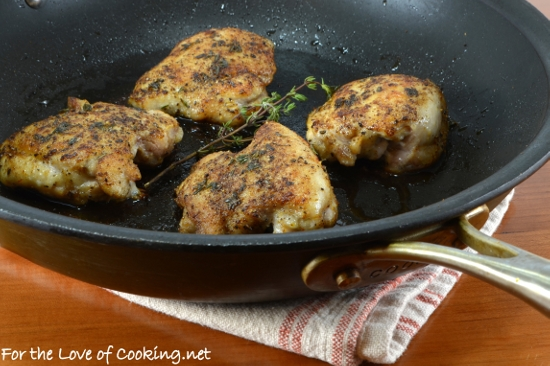Roasted Chicken Thighs with Fresh Thyme