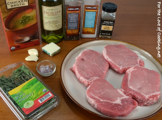 Thick Cut Pork Chops with Herb Garlic Pan Sauce