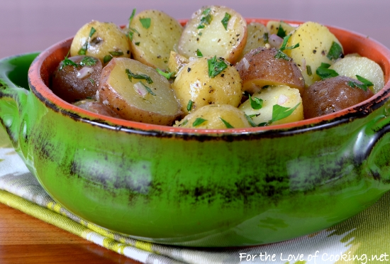 Warm Baby Potato Salad with Herb Shallot Vinaigrette