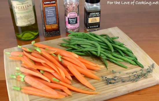 Simply Roasted Carrots and Green Beans