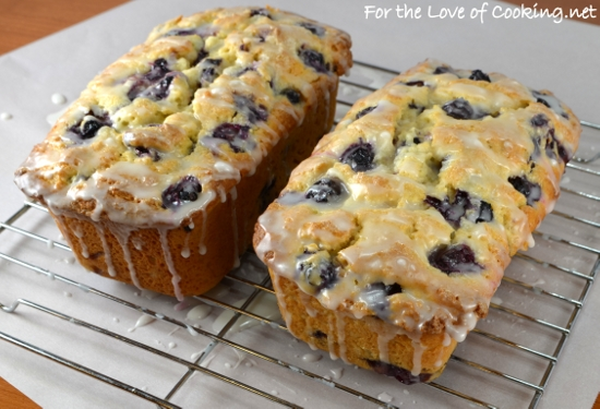Arizona Lemon Law >> Lemon Blueberry Bread with Lemon Glaze | For the Love of Cooking