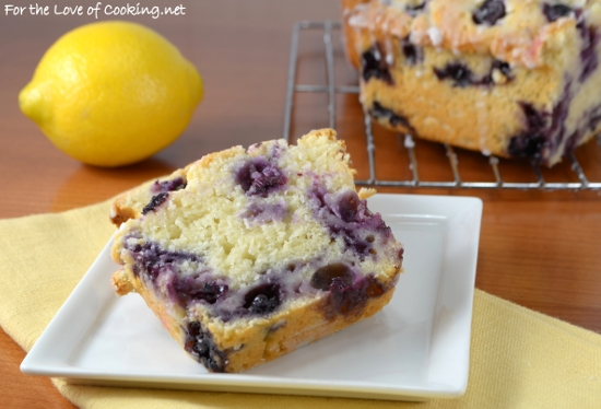 Lemon Blueberry Bread with Lemon Glaze