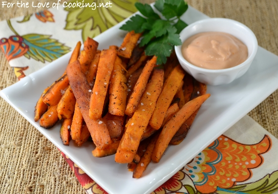 Oven Baked Sweet Potato Fries | For the Love of Cooking