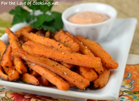 Oven Baked Sweet Potato Fries For The Love Of Cooking