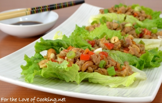 Orange-Ginger Chicken and Cashew Lettuce Wraps