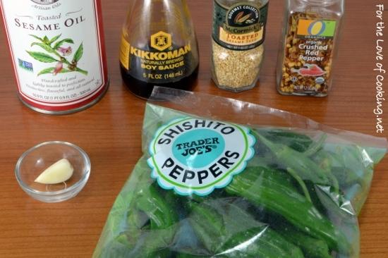 Sautéed Sesame Soy Shishito Peppers