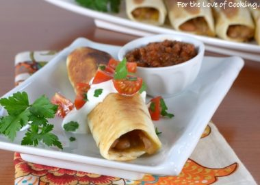 Homemade Refried Bean and Cheese Flautas