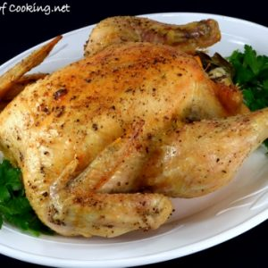 Roasted Chicken with Meyer Lemon, Garlic, and Fresh Bay Leaves