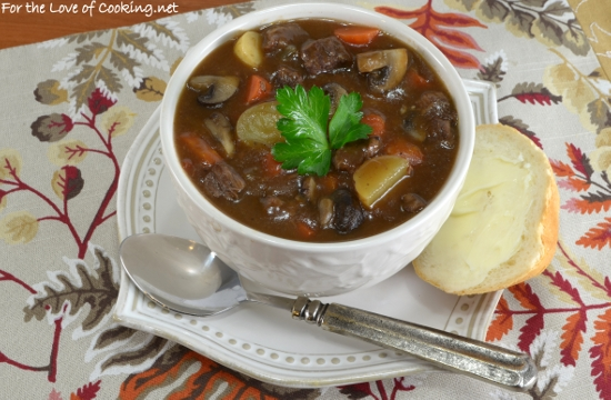 Slow Simmered Beef and Mushroom Stew   For the Love of Cooking