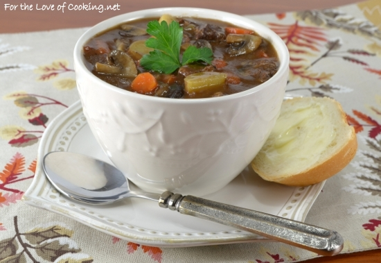 Slow Simmered Beef and Mushroom Stew