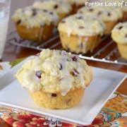 Lemon Pomegranate Muffins with a Lemon Glaze