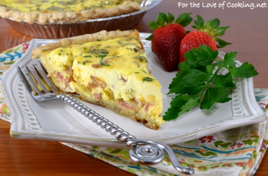 Bacon, Sharp Cheddar, and Chive Quiche