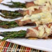Pancetta Wrapped Asparagus Bundles with Gruyere