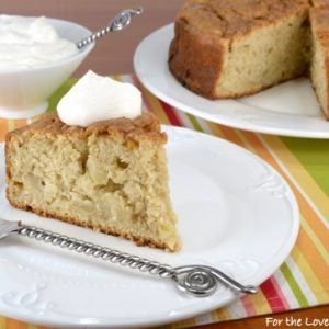 Irish Apple Cake with Cinnamon Whipped Cream