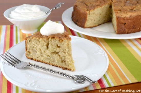 Irish Apple Cake with Cinnamon Whipped Cream