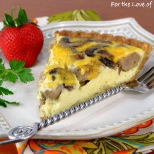 Sausage, Mushroom, and Cheddar Quiche