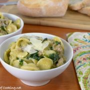 One Pan Orecchiette with Italian Sausage and Kale