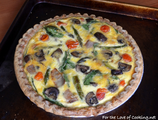 ... roasted vegetable cheddar quiche recipes dishmaps roasted vegetable