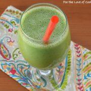 Super Green Smoothie with Green Apple and Banana