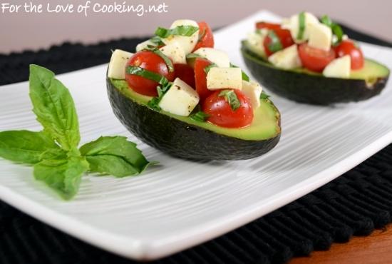 Caprese Salad Stuffed Avocado