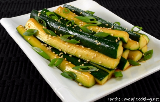 Spicy Asian Zucchini Spears