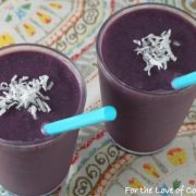 Blackberry, Mango, Coconut Smoothie