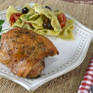 Herb-Shallot Roasted Chicken Thighs