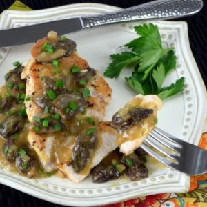 Roasted Chicken Breasts with Morel Mushroom Pan Sauce