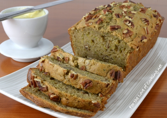 Yogurt-Zucchini Bread with Pecans | For the Love of Cooking