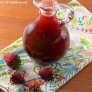 Strawberry-Vanilla Bean Syrup