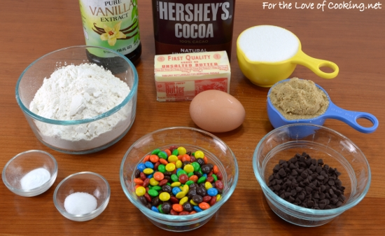 Mini Chocolate M&M Cookies