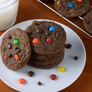Mini Chocolate M&M Cookies