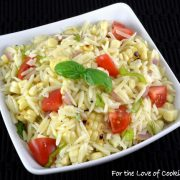 Grilled Corn and Orzo Salad with Tomatoes and Basil