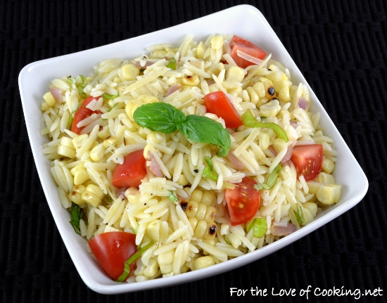 Grilled Corn and Orzo Salad with Tomatoes and Basil | For ...