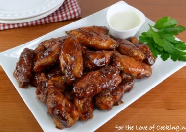 Baked Barbecue Wings