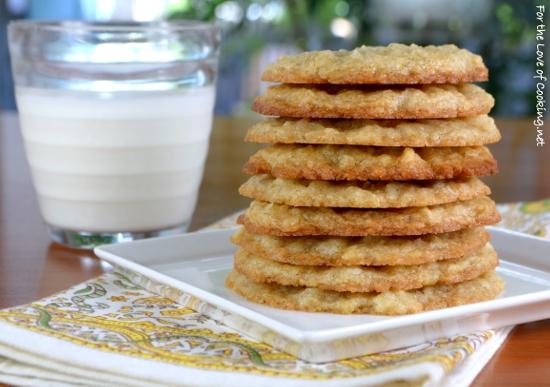 Coconut Vanilla Bean Cookies