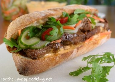 Banh Mi Sandwich with Lemongrass Pork